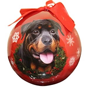 Rottweiler Christmas Ornament Shatter Proof Ball Easy To Personalize A Perfect Gift For Rottweiler Lovers 37