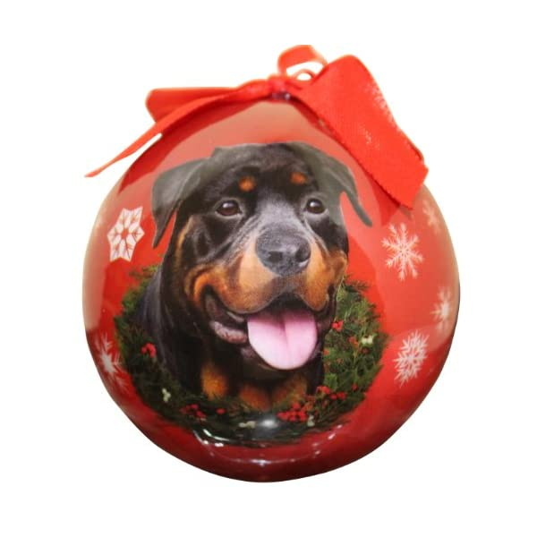 Rottweiler Christmas Ornament Shatter Proof Ball Easy To Personalize A Perfect Gift For Rottweiler Lovers 1