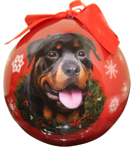 - Rottweiler Christmas Ornament Shatter Proof Ball Easy To Personalize A Perfect Gift For Rottweiler Lovers