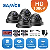 AHD1080P Dome Outdoor Home Security Surveillance Camera with Super Night Vision,IP66 Waterproof, Phone Remote Access, IP66 Weatherproof Metal Housing, Compatible with AHD DVR Security System
