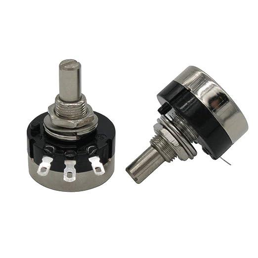 1pcs RV24YN20S B101 100 ohm Carbon film Rotary Taper potentiometer single-turn potentiometer Taiss 1pcs A03 knob