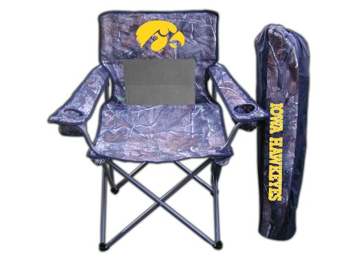 Rivalry NCAA Iowa Hawkeyes Realtree Camo Folding Chair