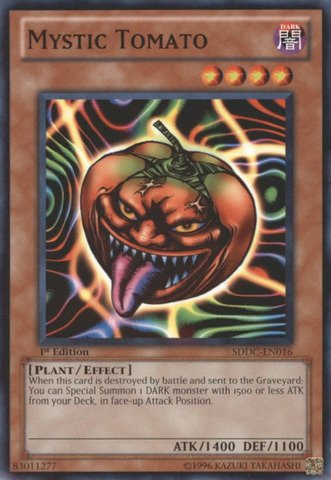 Yu-Gi-Oh! - Mystic Tomato (SDDC-EN016) - Structure Deck: Dragons Collide - 1st Edition - Common
