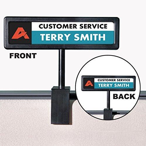 - Advantus Corp. People Pointer Cubicle Sign, 9amp;quot;X5/8amp;quot;X8amp;quot, Black