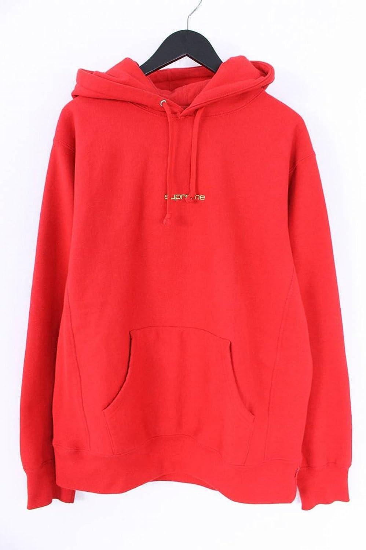 (シュプリーム) SUPREME 【17AW】【Compact Logo Hooded Sweatshirt】コンパクトロゴプルパーカー(L/レッド) 中古 B07FT9W8PL  -