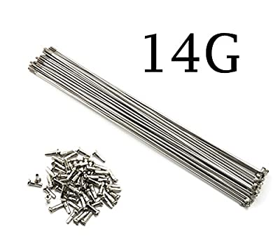 COCO-BIKE 10PCS/Lot 14G 2mm J Bend Sliver Stainless Steel Bike Bicycle Spoke Spokes With Nipples