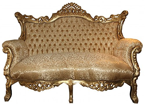 Casa Padrino Barock 2er Sofa Master Gold Muster / Gold - Wohnzimmer ...