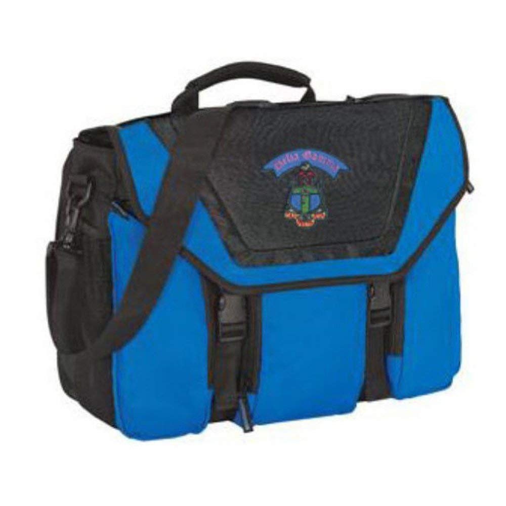 Greekgear Delta Gamma Expandable Briefcase Blue//Black