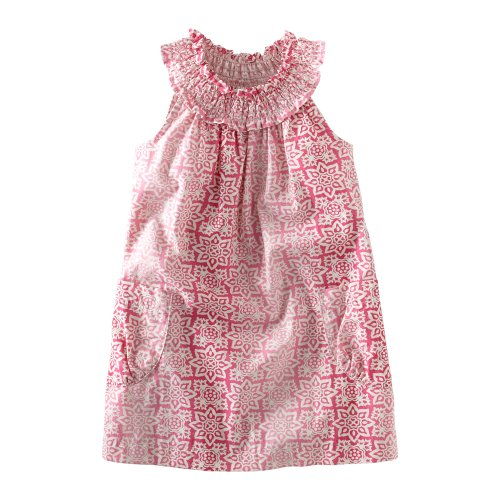 Tea Collection Baby Girls' Dharma Playdress, Pink Ruby, Small