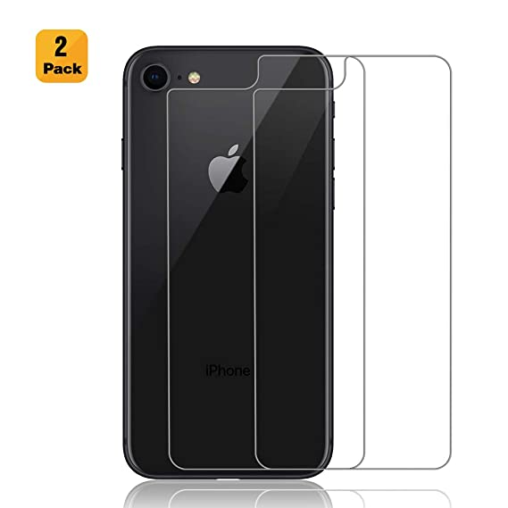 factory authentic 731e0 a6964 Maxdara iPhone 8 Back Tempered Glass Screen Protector Ultra Thin Touch  Accurate Anti Scratch Cover Rear Glass Protector Case Friendly Lifetime ...