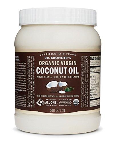 Price comparison product image Dr. Bronner's - Fresh-Pressed Virgin Coconut Oil Whole Kernel Unrefined - 58 oz. Plastic Jar