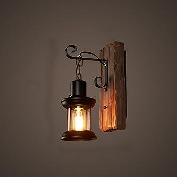 Wandleuchte LED Holzkunst Retro Wohnzimmer Flur Gang Restaurant ...