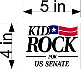 "This is a Kid Rock Sticker Full Color. Sticker is great for Walls, Doors, Desks, Guitars, Cars, Windows, Notebooks. Sticker is made of Vinyl and can withstand outdoor weather. The decal measurements is 5"" X 4"".... Item will ship First Class Mail with..."