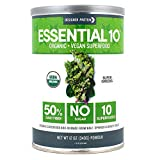 Designer Protein Essential 10 Superfood, Super Greens, 12 Ounce, 50% Daily Fiber Powder