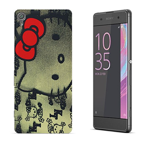 Katzen 100, Hello Kitty, Das Kristallklare Ultradünn Gel Crystal Silikon Handyhülle Schutzhülle Handyschale mit Farbig Design für SONY XPERIA XA