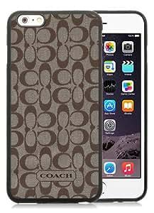 Genuine iPhone 6 Plus/6S Plus 5.5 inches Coach 61 Black Screen TPU Phone Case Fashion and Luxury Design