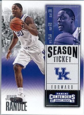 2016-17 Panini Contenders Draft Picks #50 Julius Randle Kentucky Wildcats Basketball Card in Protective Screwdown Display Case