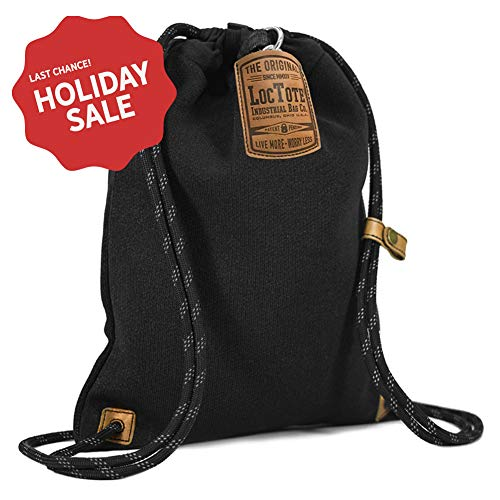 - LOCTOTE Flak Sack II - The World's Toughest Theft-Resistant Drawstring Backpack (Black)