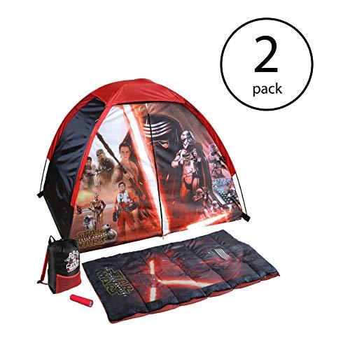 (Disney Star Wars Explorer 4 Piece Kids Backpack Camping Tent Set w/Flashlight (2 Pack))