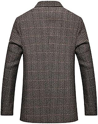 4686bb042 Men's Herringbone Wool Blazer Jacket 2 Button Casual Working Suit ...
