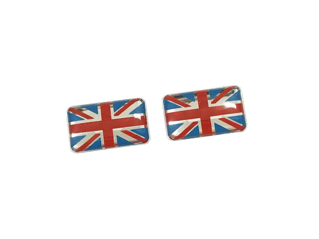 Pimall Tiny Size The Union Jack//England//Uk//Britain Flag Epoxy Sticker Vehicle-logo Badge Emblem