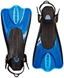 Cressi Palau Short Fins with Mesh Bag Snorkel Packages - Blue, Size - LGXLG