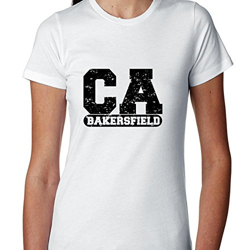 Hollywood Thread Bakersfield, California CA Classic City State Sign Women's Cotton -