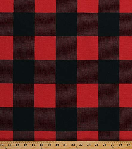 - Home Decor Buffalo Plaid Red Black 3