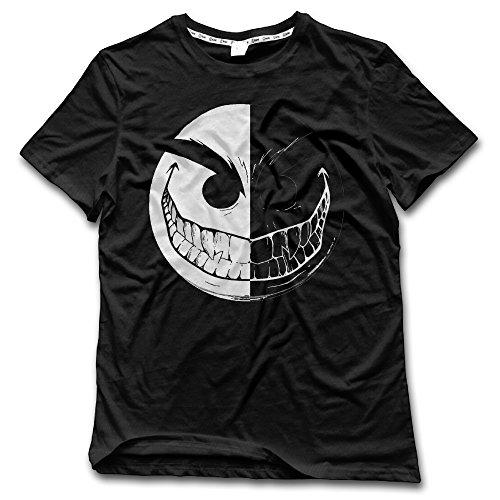 NUBIA Men's Evil Emoji Smiley Funny Tshirt Black Size L -