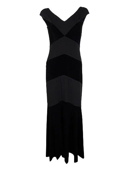 Lauren Ralph Lauren Womens Velvet Sheath Evening Dress Black 6 At