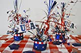 4th of July, Patriotic Top Hats Table Decoration , Set of 3, Fourth of July, Patriotic Table Decoration, Ready to Ship!
