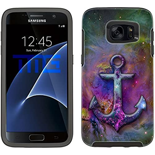 Skin Decal for Otterbox Symmetry Samsung Galaxy S7 Edge Case - Anchor on Nebula Multicolor Sales