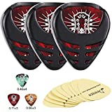 Donner Mini Sticky Style Guitar Picks 10 Pcs & Pick Holder 3-pack, Included 3 Pcs Holder Stickers, Easy to Paste on the Guitar Suitable for Acoustic Guitar Electric Guitar Bass