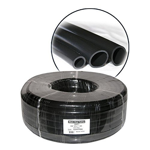 Alpine 100' Black Vinyl Tubing for Ponds 5/8 inch ID x 3/4 inch OD, 1/16 inch wall by Alpine