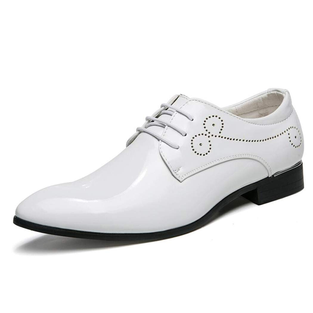 Zxcvb Abendmode Männer Leder Geschäft Casual Schuhe große Größe wies Sätze von Füßen bequem Büro Herren Formale Schuhe Kunstleder Smart Dress Hochzeit Schuhe 3 Farben erhältlich