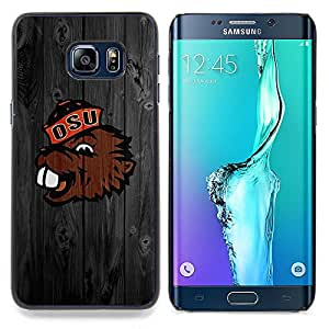 Benny Beaver Oregon Football Caja protectora de pl??stico duro Dise?¡Àado King Case For Samsung Galaxy S6 Edge Plus
