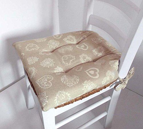 Cuscino sedia con lacci Miros \