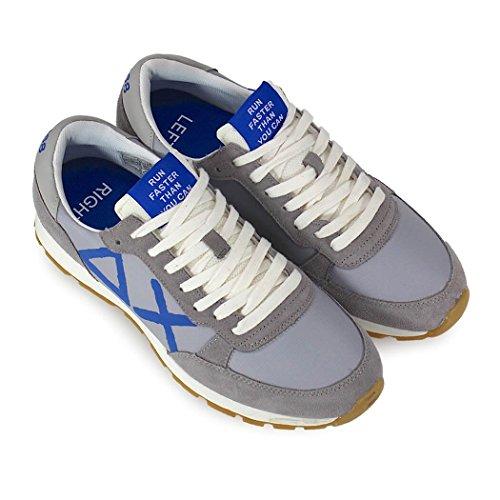 SUN68 Été Track Bleu Chaussures Baskets Homme Gris Big Printemps 2018 Logo 7w1r7nqz
