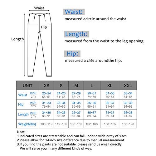 IUGA High Waist Yoga Pants Shorts with Pockets Tummy Control Workout Yoga Shorts Side Pockets (7840 Light Blue, Small) by IUGA (Image #6)