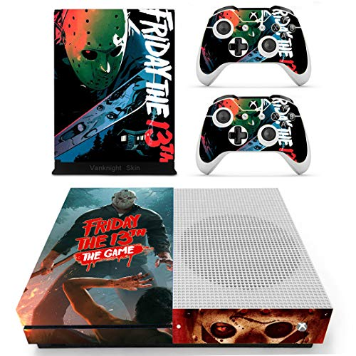 Decal Moments Xbox One S(Slim)Console Skin Set Halloween Vinyl Decal Sticker Protective for Xbox One S(Slim) Console Controllers ()