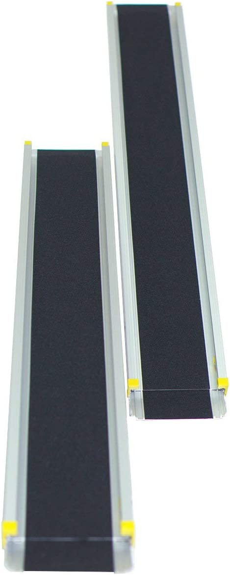 COSTWAY 2 Rampas de Carga Rampa Telescópica de Aluminio Carga hasta 270kg