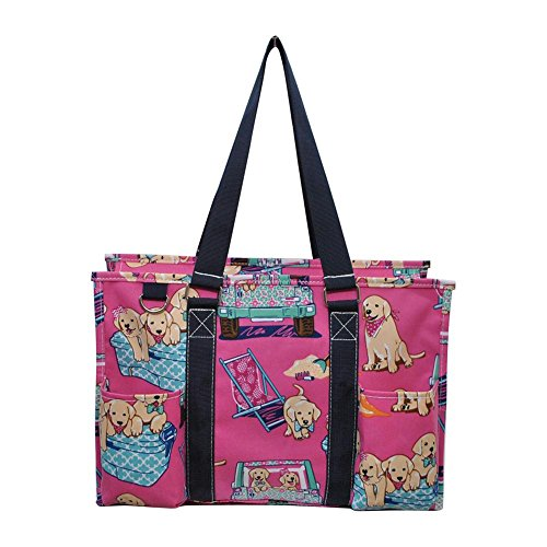 N Gil All Purpose Organizer Medium Utility Tote Bag 3 (Puppy Navy - Reversible Baby Sling Carrier