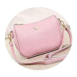 Pu Leather Women Bags Bowknot Messenger Bags Handbagsflap Shoulder Crossbody Bags Pink