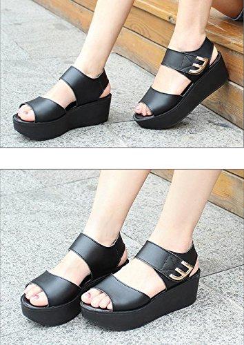 MZG Sommer Sandalen Thick Bottom Einfache Frauen Schuhe Flat Soles Sandalen