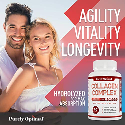51UGRTDLNHL - Premium Multi Collagen Peptides Capsules (Types I,II,III,V,X) - Anti-Aging, Healthy Skin & Hair, Strong Joints, Bones & Nails - Hydrolyzed Collagen Protein Supplement for Women and Men - 30 Day Supply