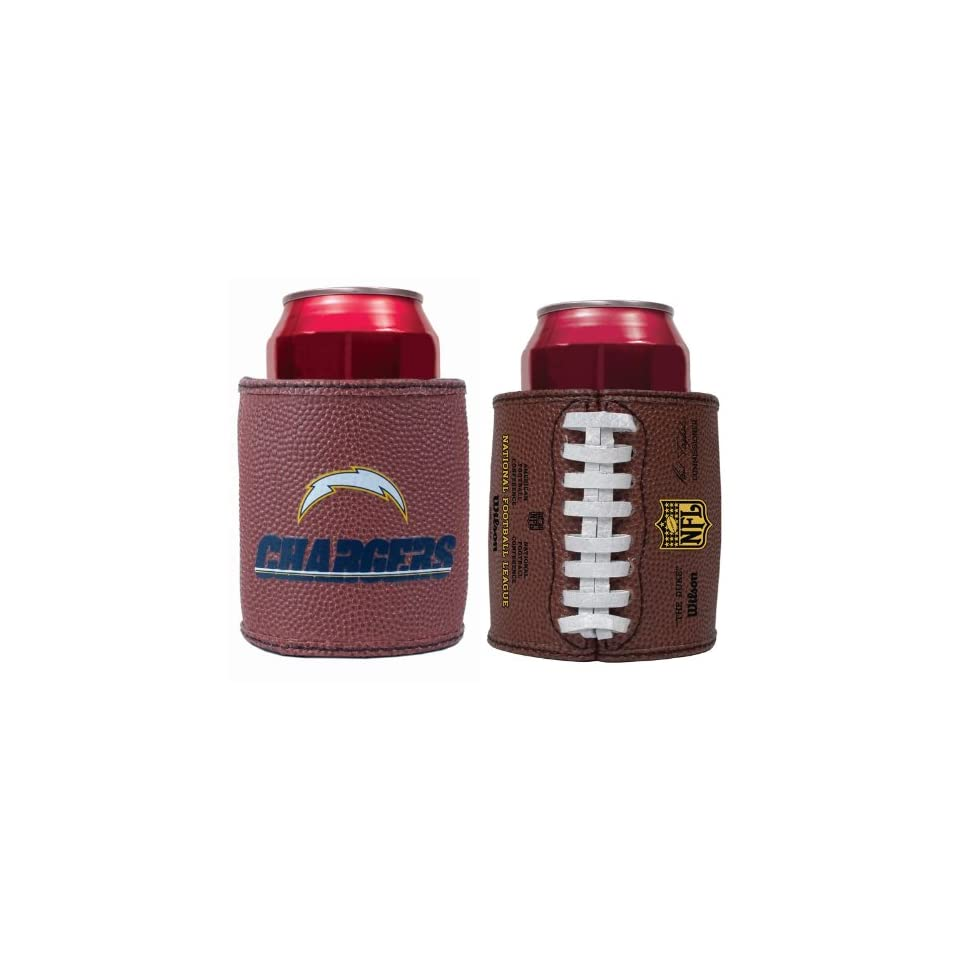 San Diego Chargers NFL Set Of 2 Football Can Coolers