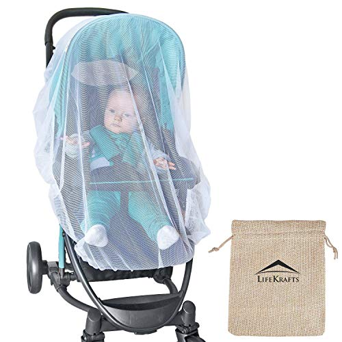 LifeKrafts Stroller Mosquito Net for Baby, Carriers, Car Seats, Cradles
