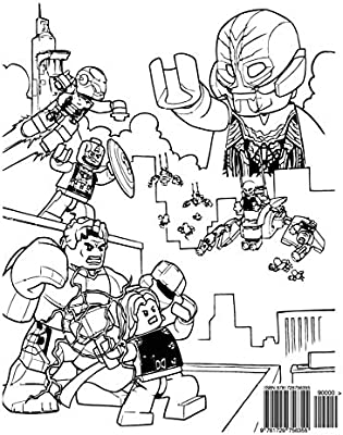 Lego Marvel Avengers Coloring Book Coloring Book For Kids And Adults Activity Book With Fun Easy And Relaxing Coloring Pages Ivazewa Alexa Amazon Ae