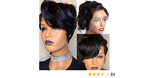 Pixie Cut Wigs 13x4 Lace front Wigs Human Hair ,MSGEM Short