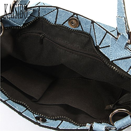 Geometric For A Women Blue Ladies Bags Bag Handbag Shoulder Denim Women Washed Bucket Crossbody Tote Bag w1zvXZxq